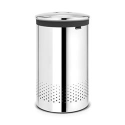 Laundry bin, 60 litre, brilliant steel