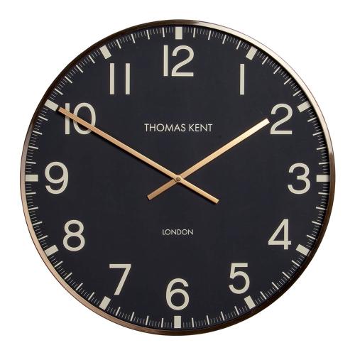 Clocksmith Brass Large wall clock, 76cm, Black/Brass