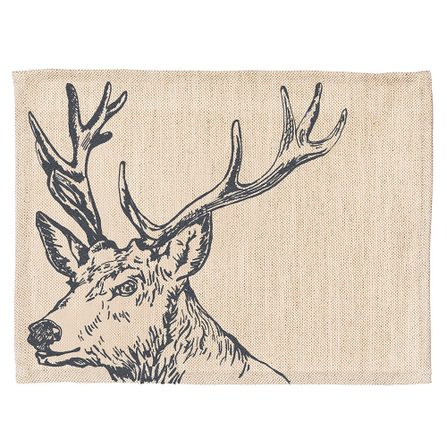Stag Set of 2 placemats, 40 x 30cm