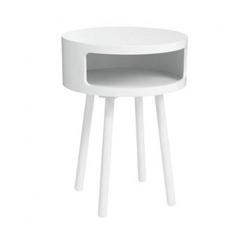 Bumble Side table, D40 x H56cm, white