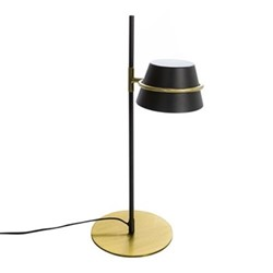 Lamp, black and gold