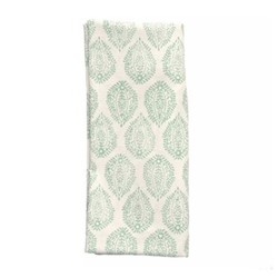 Leaf Set of 4 napkins, 45 x 45cm, green cotton