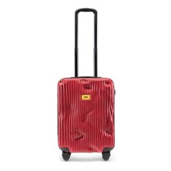 Stripe Cabin suitcase, H55 x W40 x D20cm, red