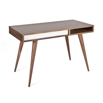 Celine Walnut desk with drawer, H75 x W110 x D55cm, walnut