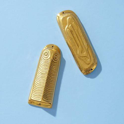 Owl Mezuzah, W4 x H10cm, brass