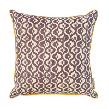 Small Medallion Cushion, 50 x 50cm, aubergine
