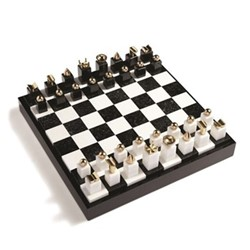 Games Chess set, 41 x 41 x 6cm, black & white