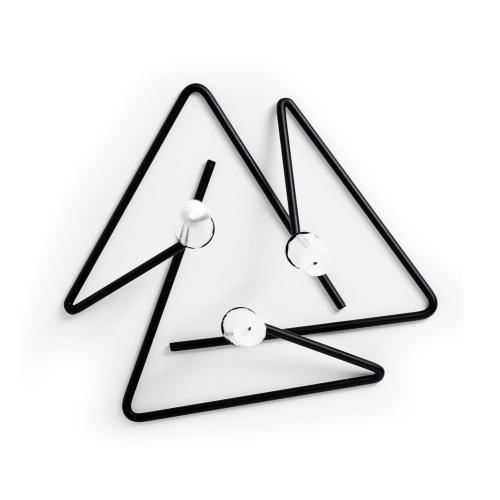 Puzzle Set of 3 candlesticks, Black