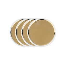 Dauville Set of 4 tidbit plates, gold