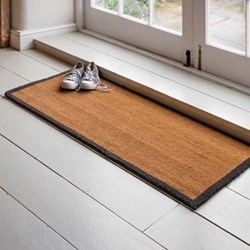 Double doormat with charcoal border