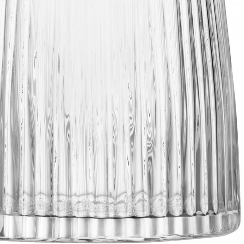 Pleat Vase, 26cm, clear