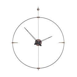Mini Bilbao Wall hanging clock, D77m, walnut