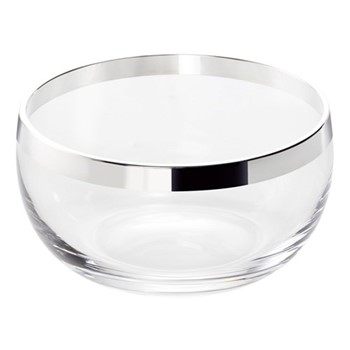 Exclusive Bowl, H7 x Dia 13cm, crystal and sterling silver