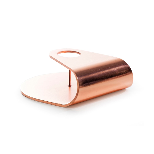 Nightlight Candlestick, Dia10 x 3.8cm, Brushed Copper Plated