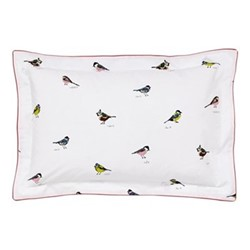 Great British Birds Oxford pillowcase, L48 x W74 cm, chalk