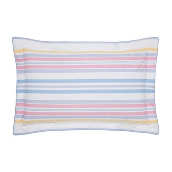 Summer Fruit Stripe Oxford pillowcase, L48 x W74cm, multi