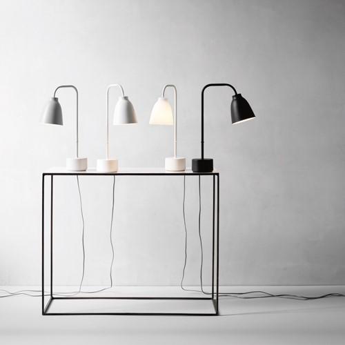 Caravaggio Read Table lamp, H50 x Dia12.4cm, Grey25