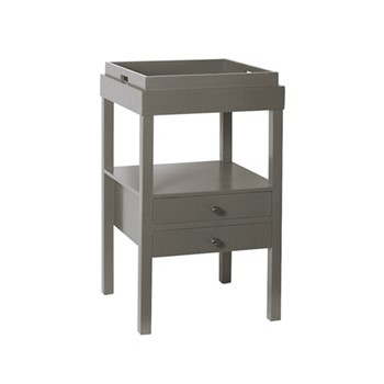 Chelsea Bedside table, W45 x D45 x H75cm, purbec stone