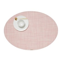 Mini Basketweave Set of 4 oval placemats, 36 x 49cm, blush