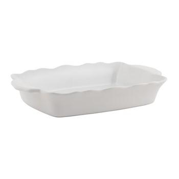Whitby Large serving dish, H7 x W25.7 x D41cm, white