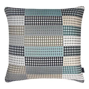 Beadle Large square cushion, 56 x 56cm, blue