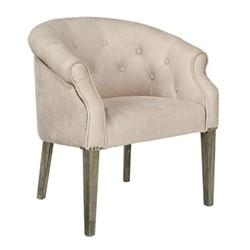 Kirkwall Club chair, L70 x W63 x H78cm, china clay leather