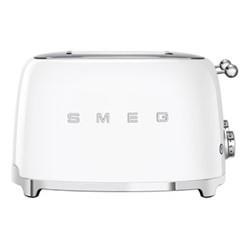 50's Retro 4 slice toaster - 4 slot, white