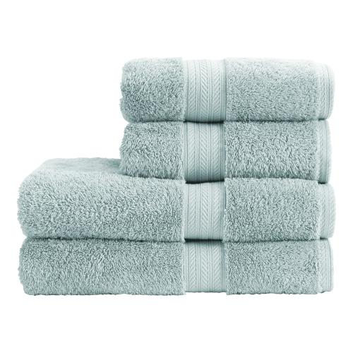 Renaissance Pair of hand towels, 50 x 100cm, eggshell blue