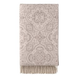 Bed Shimmer Damask Woven bed throw, 245 x 150cm, rose taupe