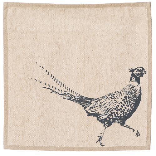 Pheasant Set of 4 napkins, 40 x 40cm