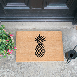 Pineapple Doormat, L60 x W40 x H1.5cm