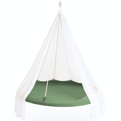 Nomad TiiPii bed, 150 x 150 x 178cm, Green