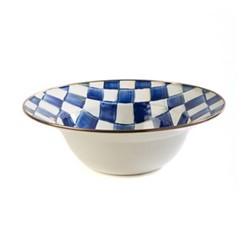 Royal Check Serving bowl, D30.48cm, blue & white