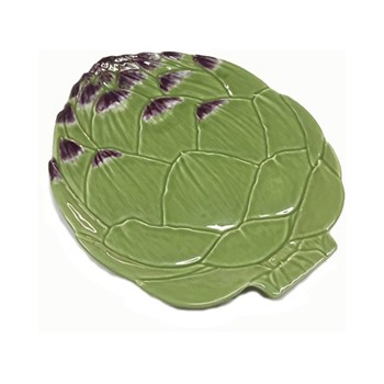 Artichoke Set of 4 dinner plates, 31.5 x 26.8cm, green