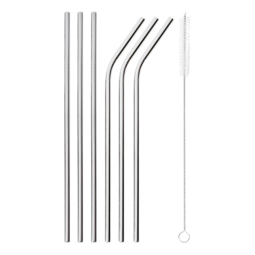 Mix & Play Set of 6 straws, Stainless Steel