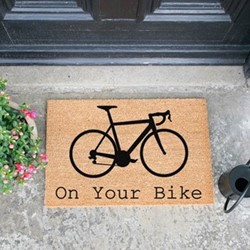 Image Collection Doormat, L60 x W40 x D1.5cm, natural/black