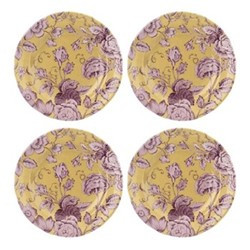 Kingsley Set of 4 plates, 20cm, ochre
