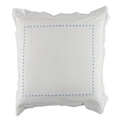 Dots Square pillowcase, 65 x 65cm, blue 200 thread count cotton