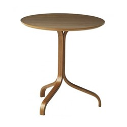 Lamino Side table, Dia46 x H49cm, walnut