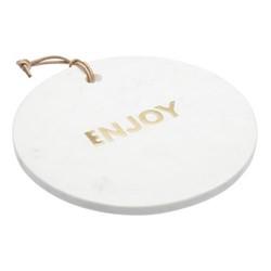 Artesa Round marble cheese board, D26 x H2cm, white