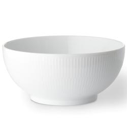 White Fluted Bowl, 18cm