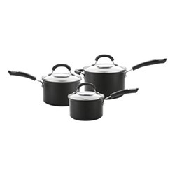 Total 3 piece saucepan set, hard anodized aluminium
