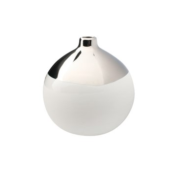 Dauville Bud vase with narrow top, mid glazed platinum