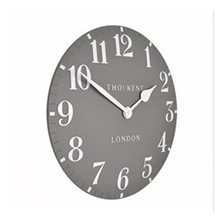 Arabic Small wall clock, 30cm, dolphin grey resin