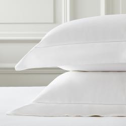 Connaught - Silk Cotton Sateen Oxford pillowcase, 50 x 75cm, chalk