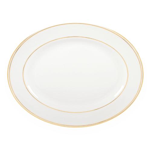 Federal Gold Oval platter, 33cm