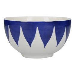 Henry Cole Cereal bowl, H7 x W14 x L14cm, blue/white