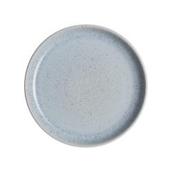 Studio Blue Small side plate, 17 x 2.5cm, pebble