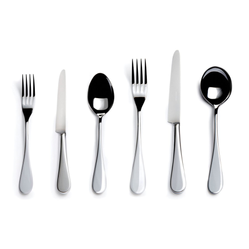 English 6 piece place setting, stainless steel