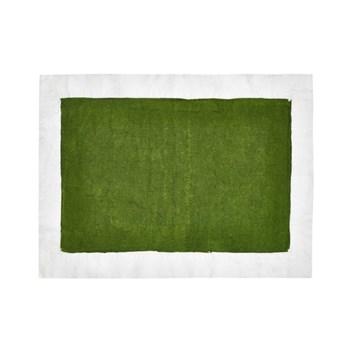 Full Field Linen placemat, avocado green